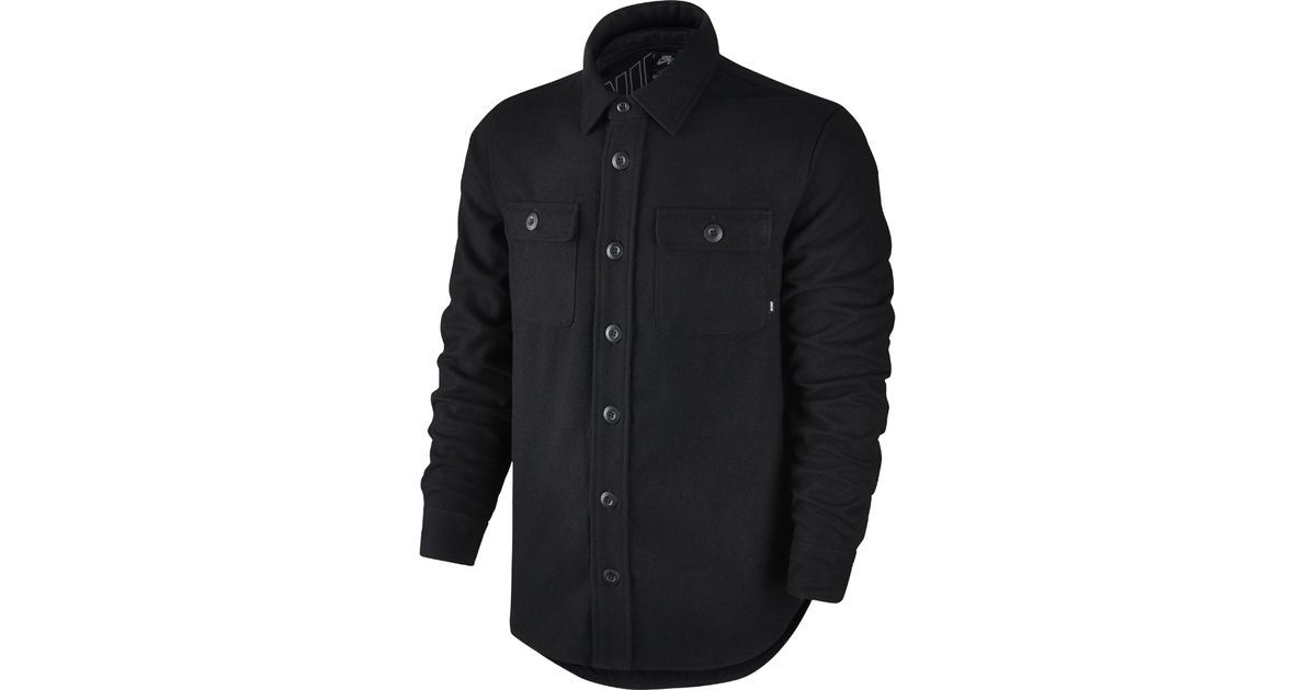 365b21349 Lyst - Nike Sb Holgate Yarn-dye Wool Men's Long Sleeve Shirt in Black for  Men