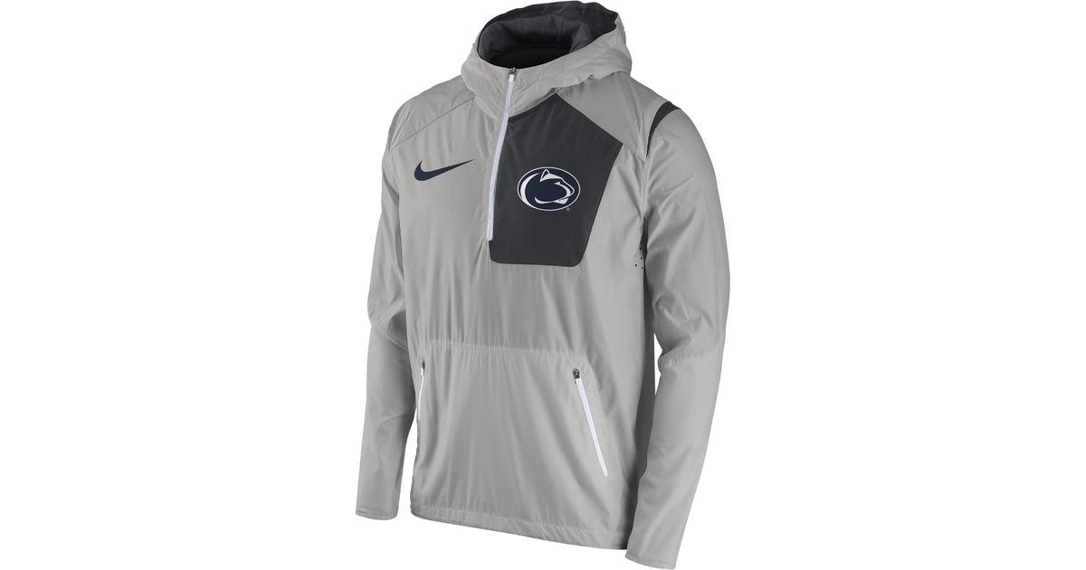 Nike Gray College Vapor Fly Rush (penn State) Men's Football Jacket for men