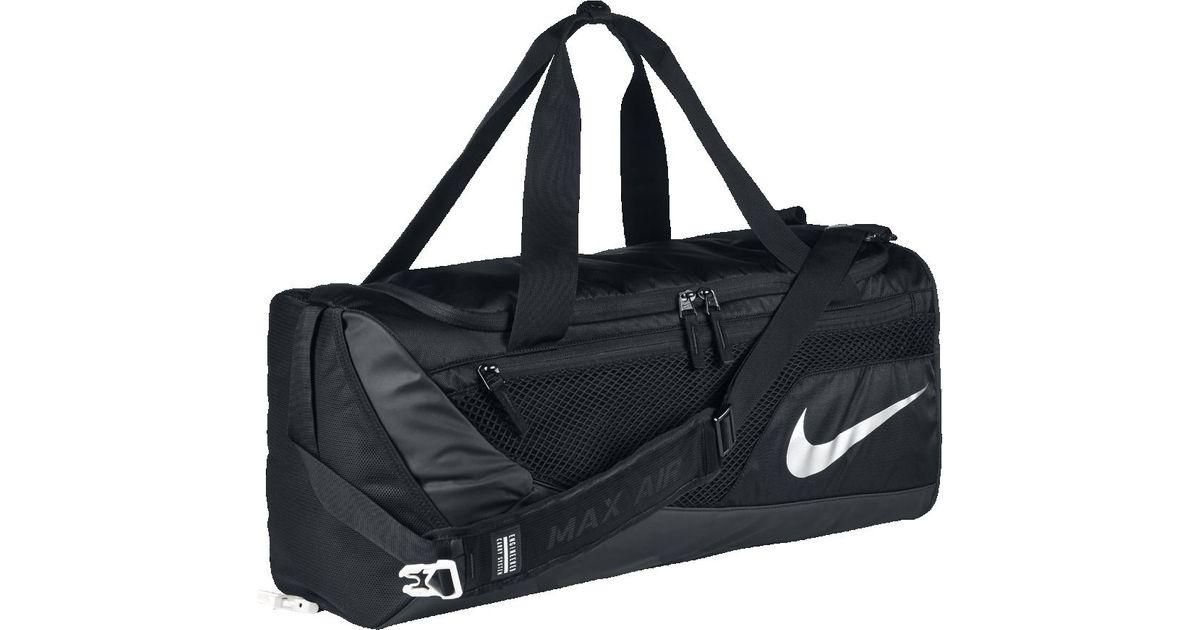 8db4274732 50% price 13e54 02502 lyst nike vapor ma air training medium duffel bag  black volt metallic silver duffel bags for men