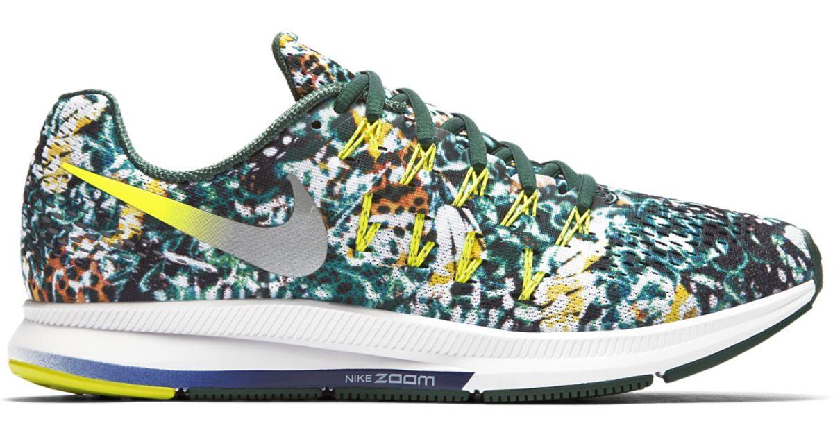 a51483b3fee1 Lyst - Nike Air Zoom Pegasus 33 Brazil Rain Forest Print Men s Running Shoe  in Blue for Men