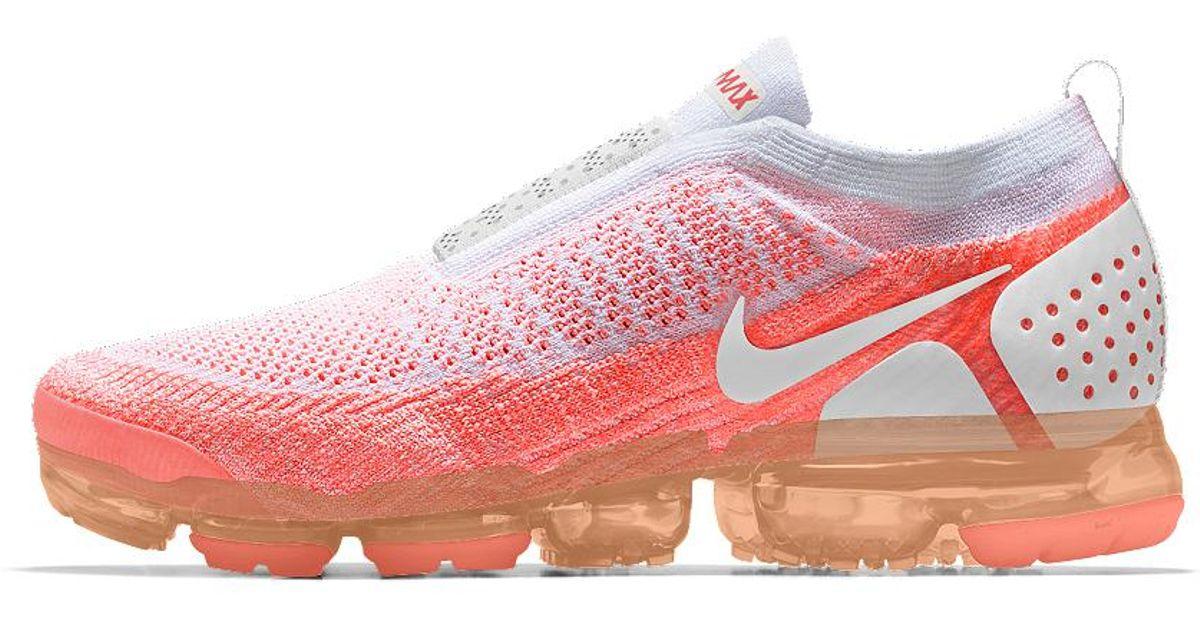 19a28d37107a6 Lyst - Nike Air Vapormax Flyknit Moc 2 Id Women s Running Shoe in Pink nike  vapormax