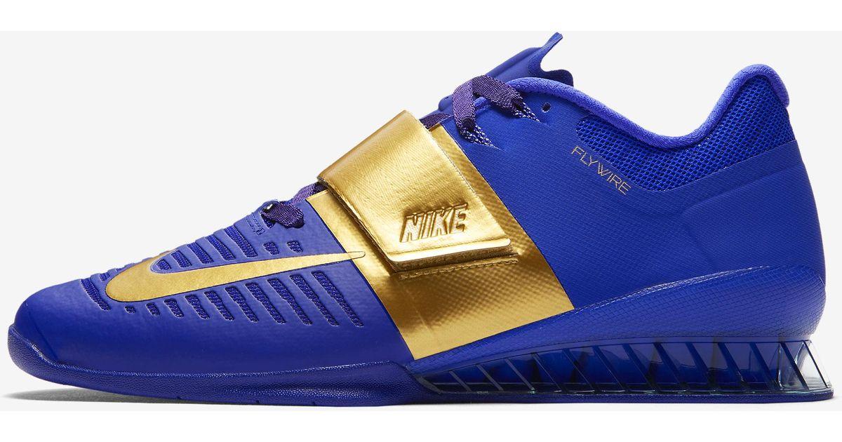 nueva especiales Buenos precios gran descuento de 2019 Nike Synthetic Romaleos 3 Royal Reign in Blue for Men - Lyst