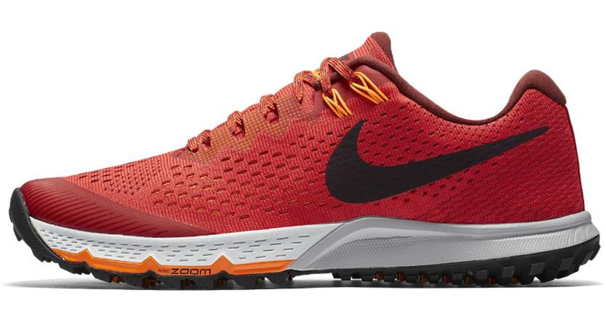reputable site 49b8f d9b10 Lyst - Nike Air Zoom Terra Kiger 4 Men s Running Shoe in Red for Men