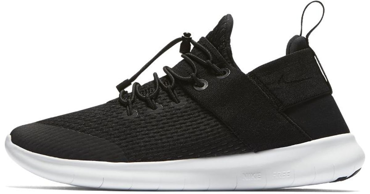 cd93e7fd503e2 ... new arrivals lyst nike free rn commuter 2017 womens running shoe in  black save 10.909090909090907 6aa89