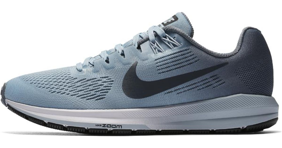 47d7fbf6377e3 Lyst - Nike Women s Air Zoom Structure 21 Running Shoe in Blue - Save 31%