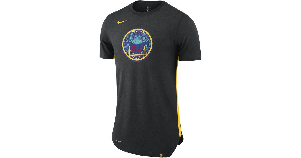 meet ca54a de429 Nike Black Golden State Warriors City Edition Dry Men's Nba T-shirt for men