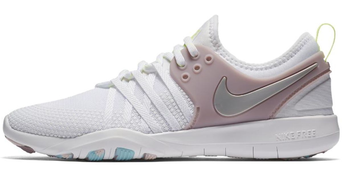 21bfe375d9a ... sale lyst nike free tr7 womens training shoe in white d0f76 dbf1e ...