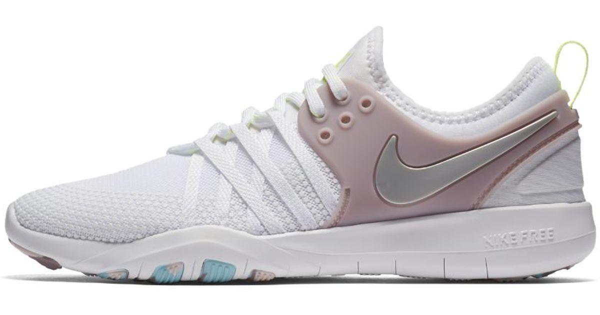 fb41ca72383 ... sale lyst nike free tr7 womens training shoe in white d0f76 dbf1e ...