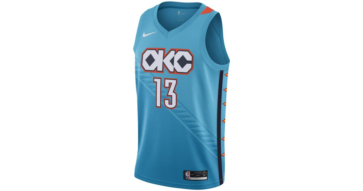 separation shoes 96203 6238f Nike Blue City Edition Swingman (oklahoma City Thunder) Nba Connected  Jersey for men