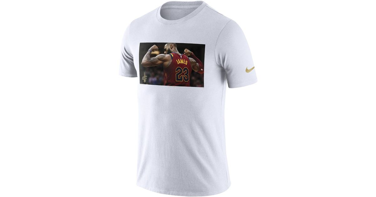 ddb7851b13e0 Nike Lebron James Cleveland Cavaliers Dri-fit Men's Nba T-shirt in White  for Men - Lyst