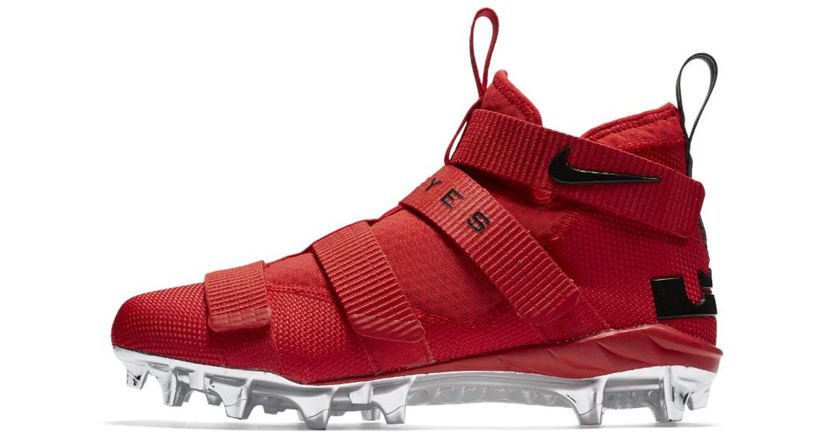 a8da70a900f ... order lyst nike lebron soldier 11 college ohio state mens football  cleat in red for men