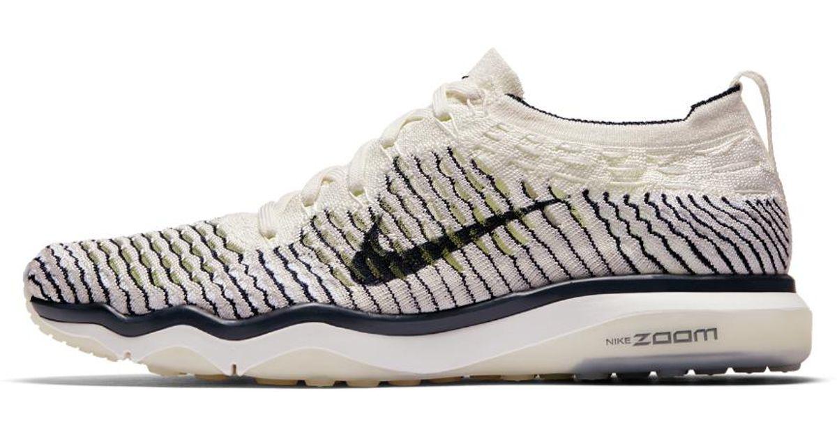 Lyst - Nike Air Zoom Fearless Flyknit Indigo Women's Training Shoe in White