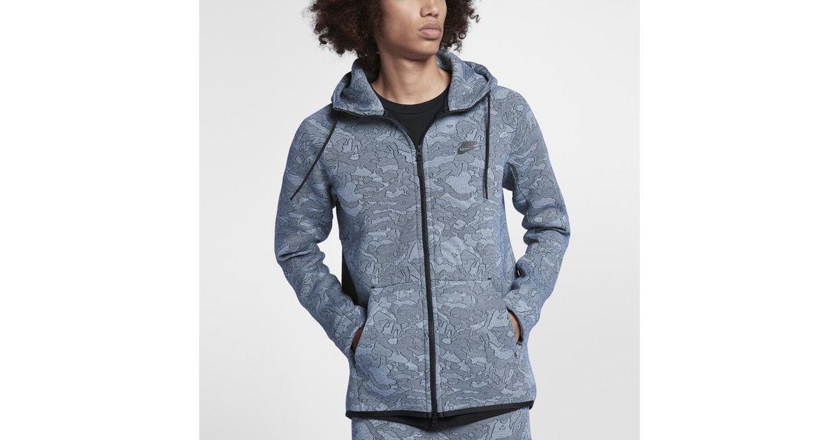 5ee2703d3ea2 Lyst - Nike Sportswear Tech Fleece Men s Full-zip Hoodie in Blue for Men