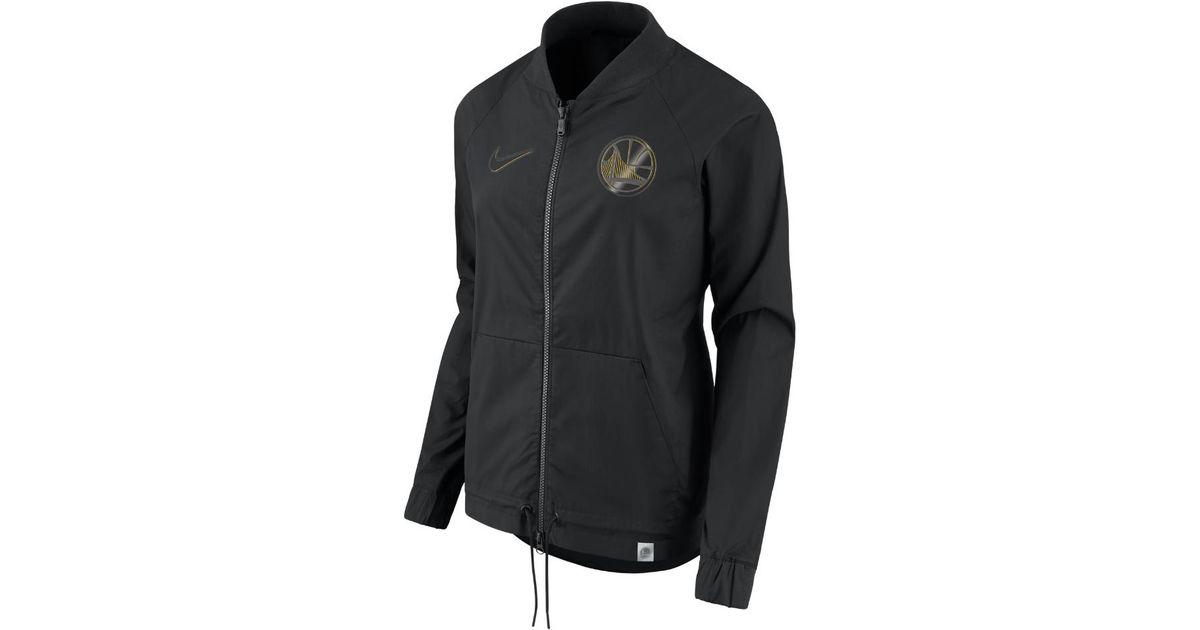 1f9bcfe22997 Lyst - Nike Golden State Warriors Women s Nba Jacket in Black