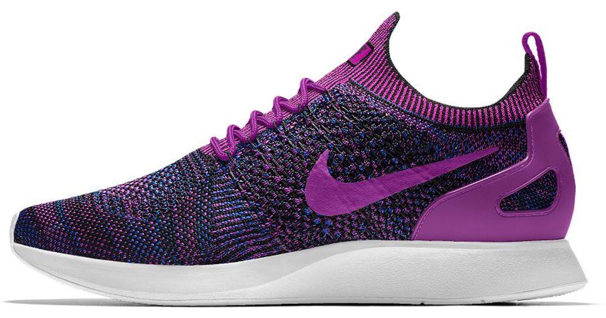 9b497989d813 ... new style lyst nike air zoom mariah flyknit racer id womens shoe in  purple 8ba0d dea5c