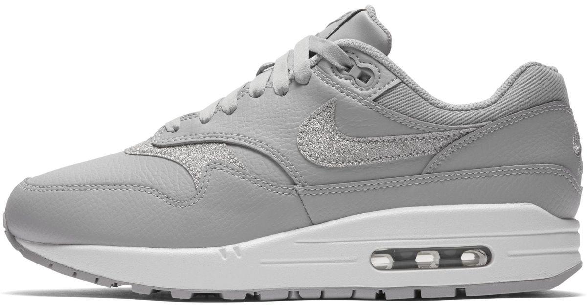 Nike Air Max 1 Se Glitter Shoe in Grey