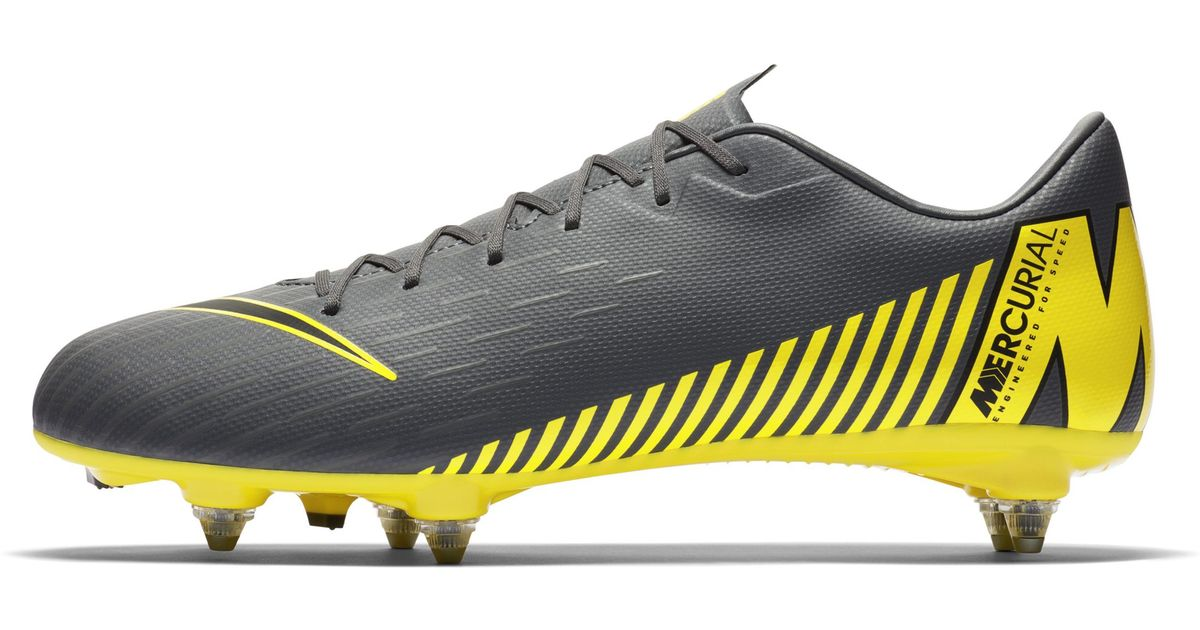 ac84f514de3 Nike Mercurial Vapor Xii Academy Sg-pro Soft-ground Football Boot in Gray  for Men - Lyst