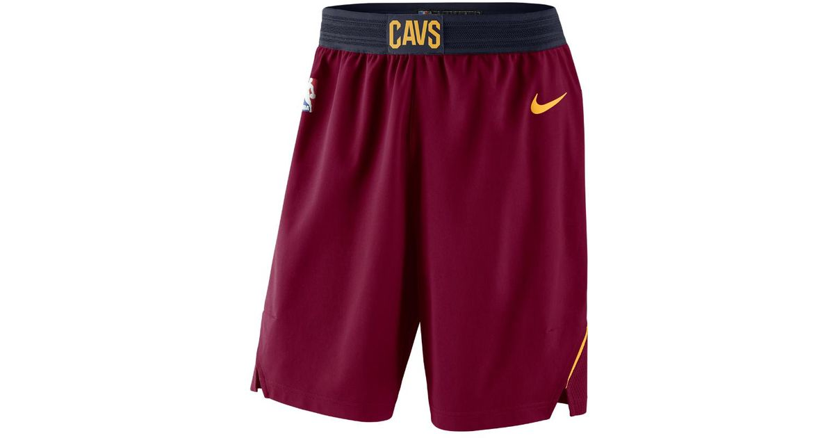 f5e10b8f434e Lyst - Nike Cleveland Cavaliers Icon Edition Authentic Men s Nba Shorts in  Red for Men