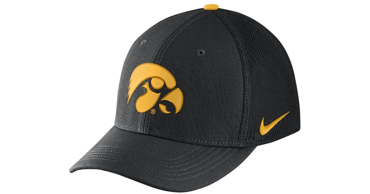 pretty nice 5337a 6bf33 ... lyst nike college classic 99 swoosh flex iowa fitted hat in black for  men f9db3 france iowa hawkeyes official ncaa dhs size 7 1 2 fitted hat cap  ...