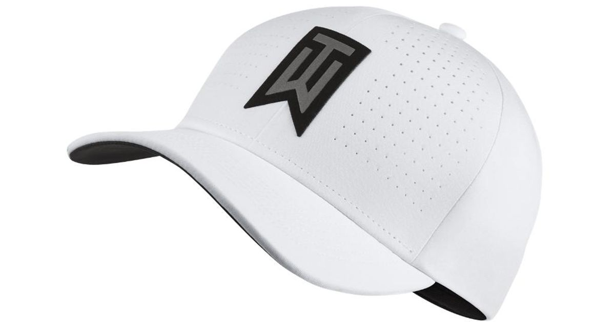 Lyst - Nike Tw Classic 99 Statement Fitted Golf Hat in White for Men a4461a3700b