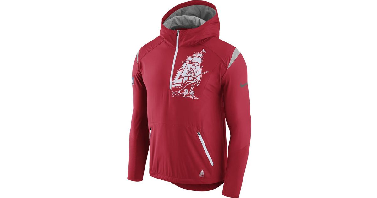 the latest a3414 1d20a Nike Red Lightweight Fly Rush (nfl Buccaneers) Men's Jacket for men