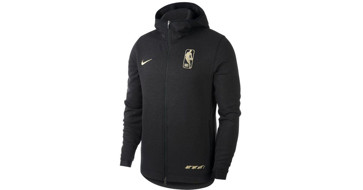 596709a279 Nike Black Dri-fit Showtime Association Men's Full-zip Nba Hoodie for men