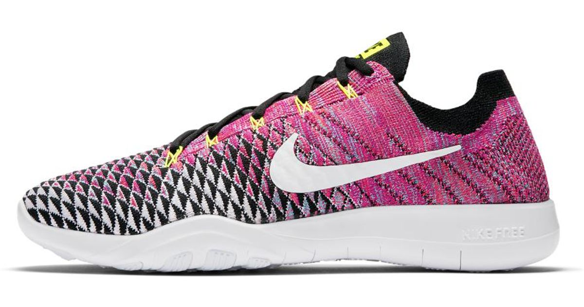 7c5653b3a79a Lyst - Nike Free Tr Flyknit 2 Women s Training Shoe in Pink