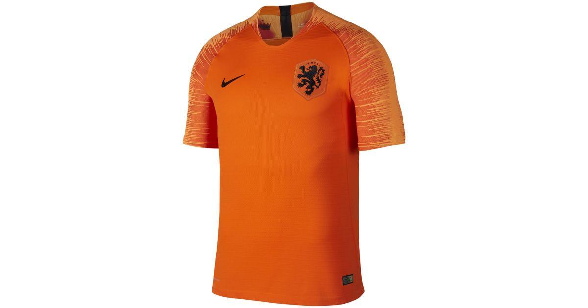 reputable site e23f1 4676e Nike Orange 2018 Netherlands Stadium Home Football Shirt for men