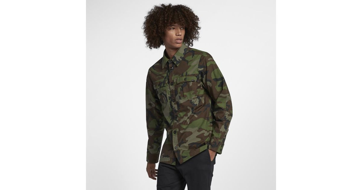 8e1d5e06d50c9 Lyst - Nike Sb Flex Holgate Men s Long Sleeve Camo Top in Green for Men