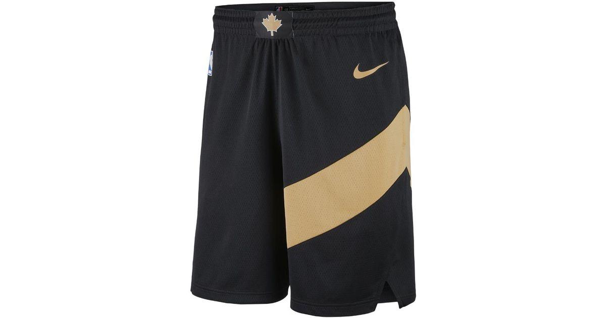ebaf63d82 Nike City Edition Swingman (toronto Raptors) Men s Nba Shorts in Black for  Men - Lyst