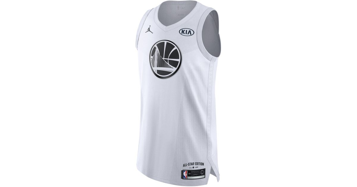 46d64de3f2ae Nike Stephen Curry All-star Edition Authentic Jersey Jordan Nba Connected  Jersey in White for Men - Lyst