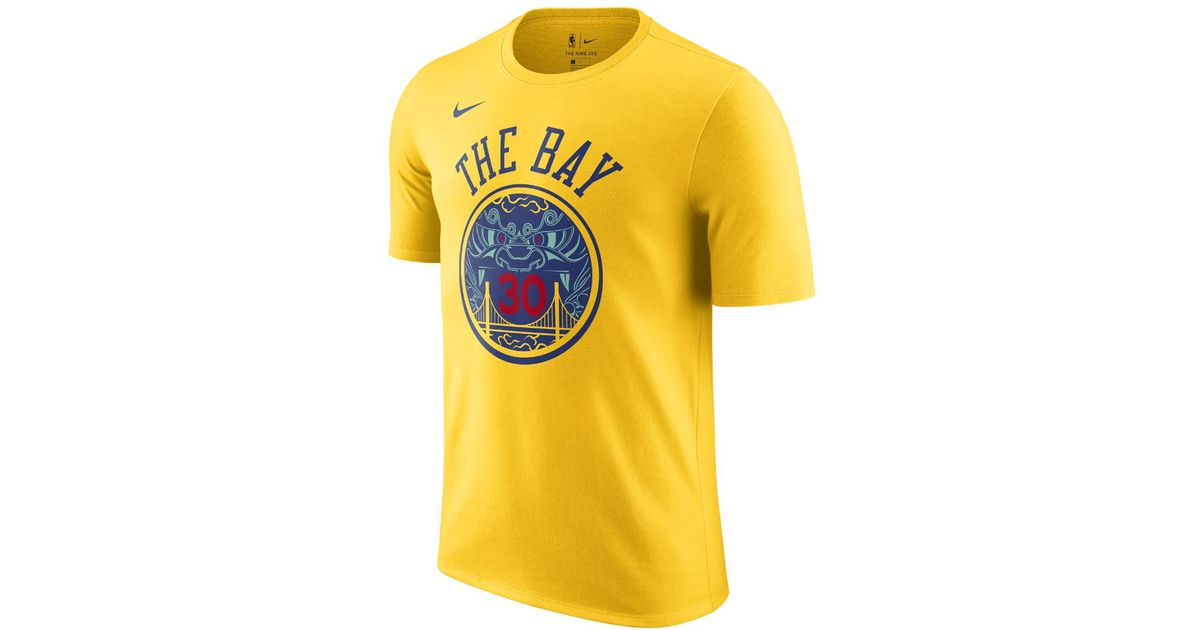 f6a0218f49b Lyst - Nike Stephen Curry Golden State Warriors City Edition Dry Men s Nba T -shirt in Yellow for Men