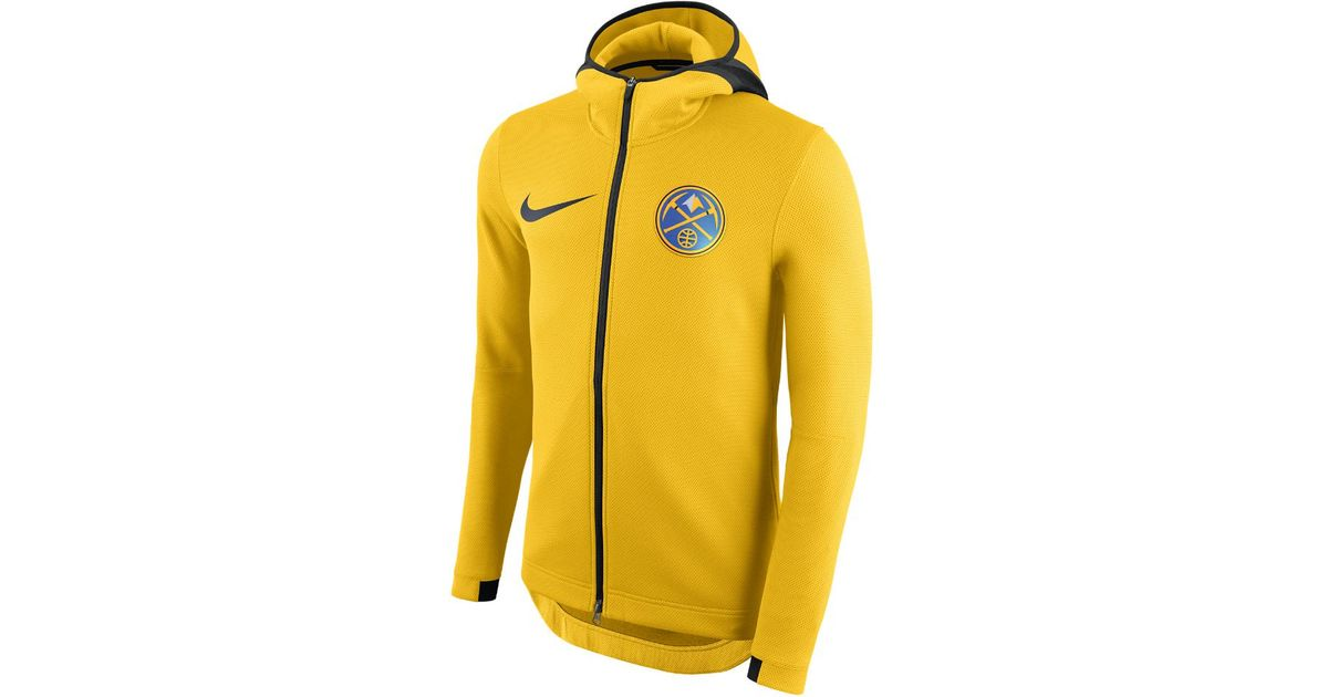 best service 405ff d8934 Nike Yellow Denver Nuggets Therma Flex Showtime Men's Nba Hoodie for men