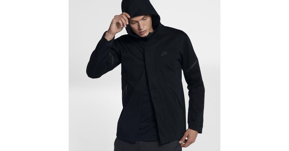 4b556fc784e61 Nike Sportswear Tech Fleece Repel Windrunner Men's Jacket in Black for Men  - Lyst