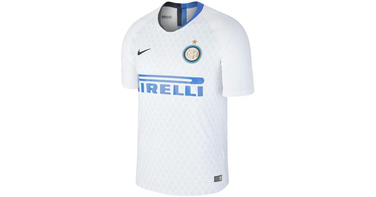 timeless design fdfce 880aa Nike White 2018/19 Inter Milan Vapor Match Away Football Shirt for men