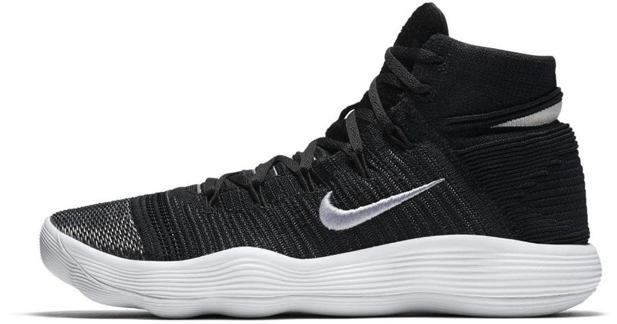 bd52addeff44b0 ... authentic lyst nike react hyperdunk 2017 flyknit mens basketball shoe  in black for men 137ce 8fa4c