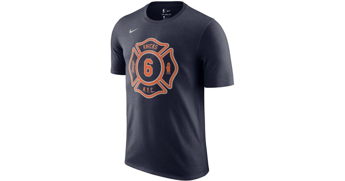 Lyst - Nike Kristaps Porzingis New York Knicks City Edition Dry Men's Nba T- shirt in Blue for Men