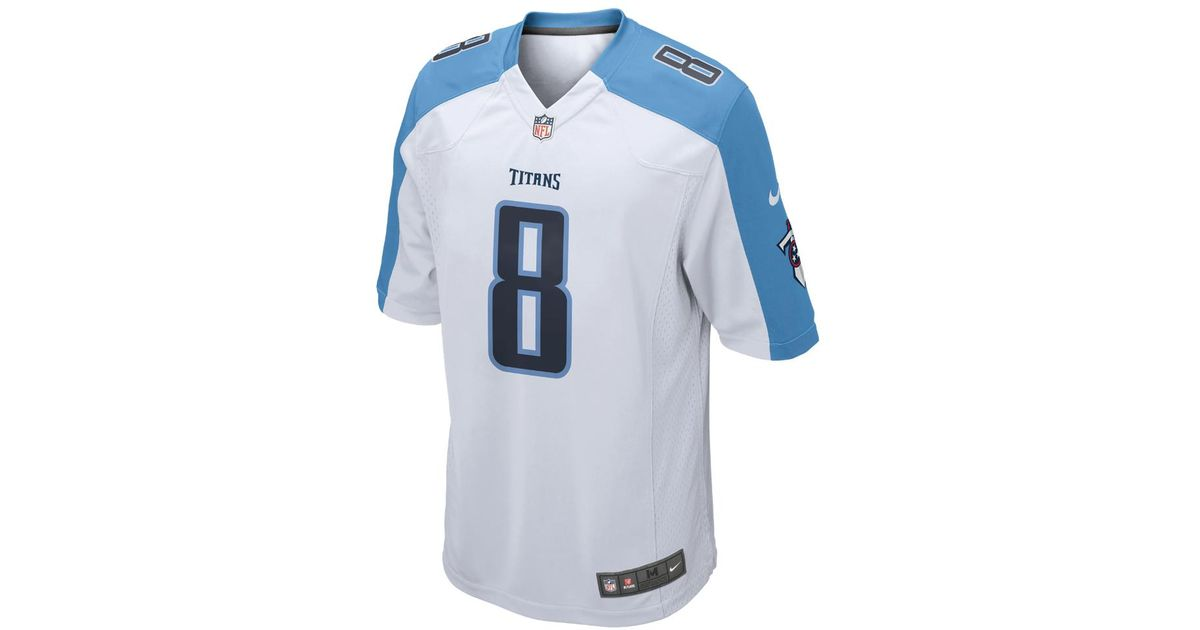 sale retailer 14577 4b63f Nike - Blue Nfl Tennessee Titans (marcus Mariota) Men's Football Away Game  Jersey for Men - Lyst