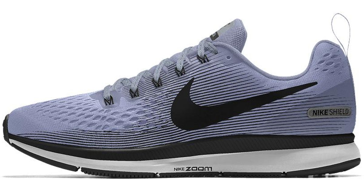 best wholesaler e8fd1 b3ed8 Nike Blue Air Zoom Pegasus 34 Shield Id Men's Running Shoe for men