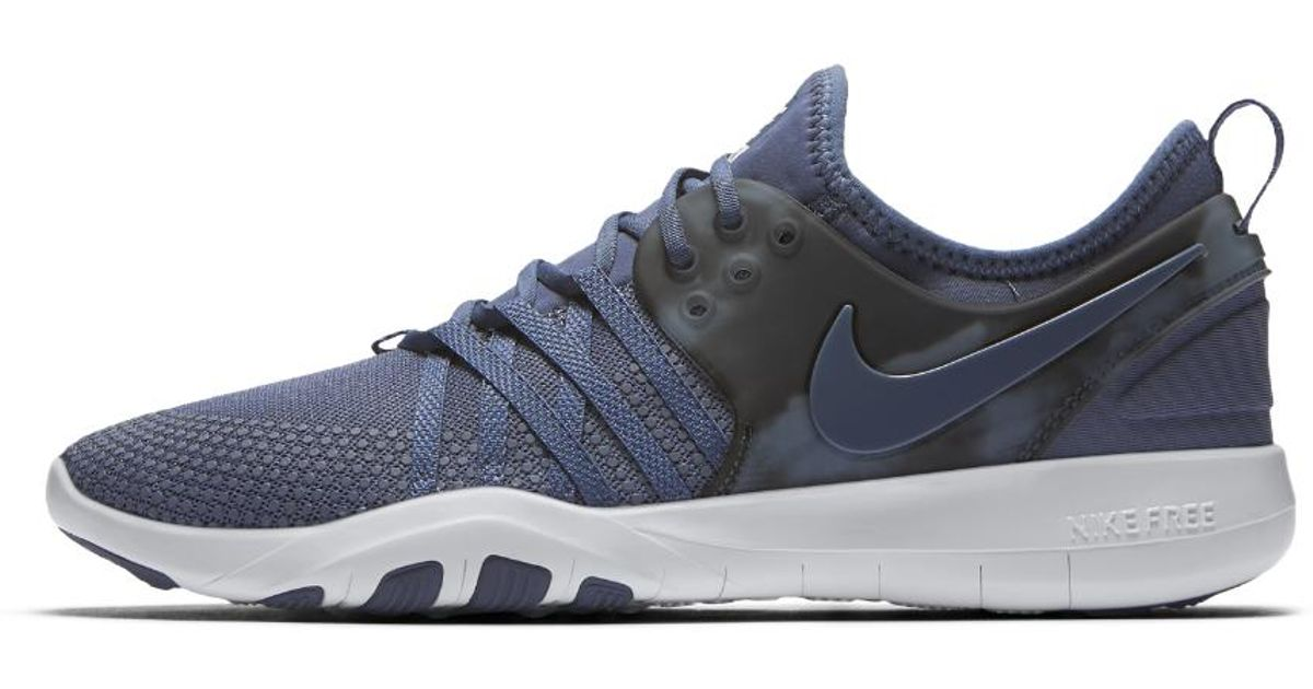 e2a39473d4e83 Lyst - Nike Free Tr 7 Amp Women s Training Shoe in Blue