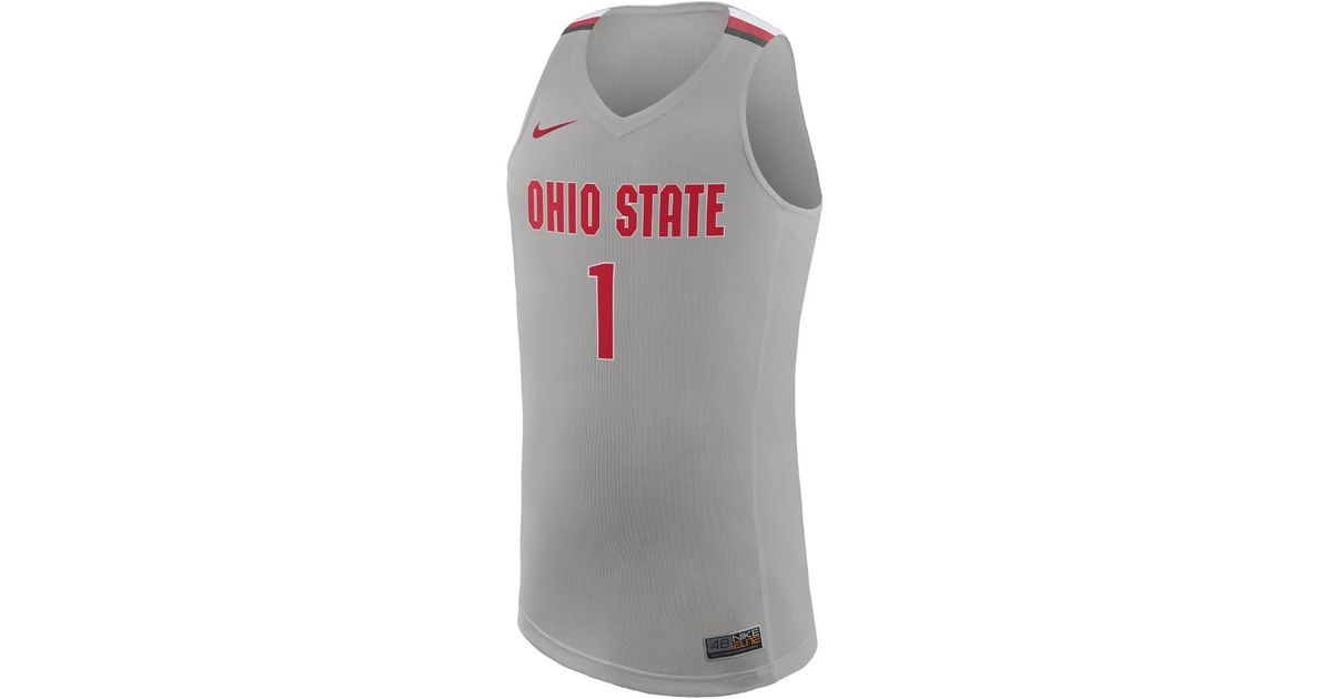 ab3f592504d4 Lyst - Nike College Replica (ohio State) Men s Basketball Jersey in Gray  for Men