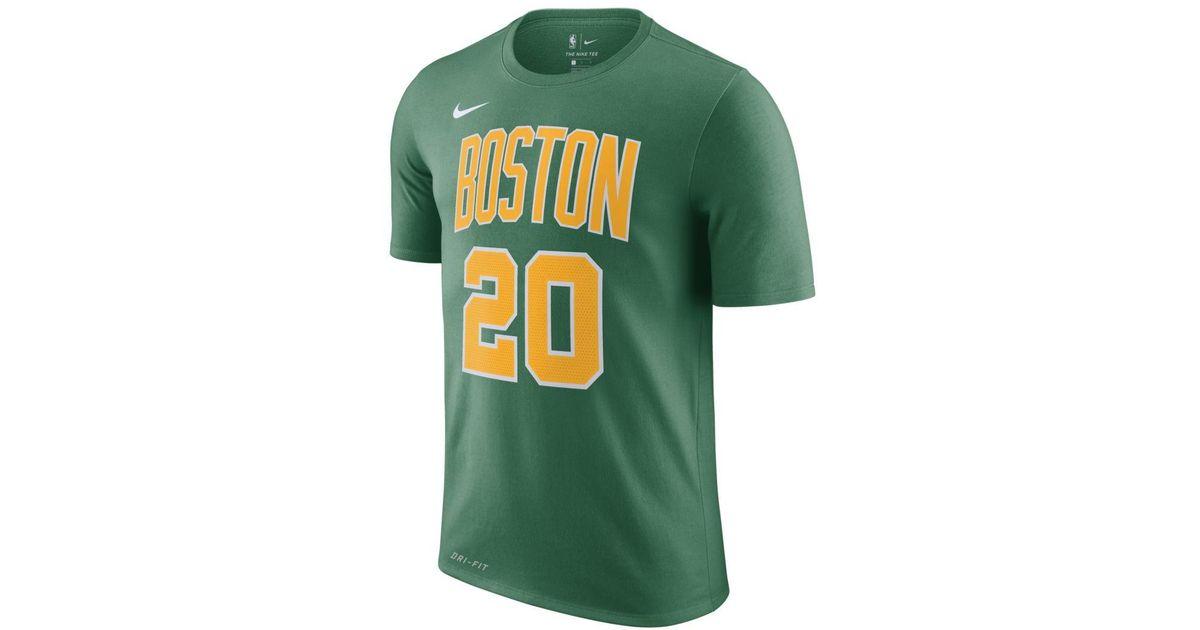 cheaper 752ae 10012 Nike - Green Gordon Hayward Boston Celtics City Edition Dri-fit Nba T-shirt  for Men - Lyst