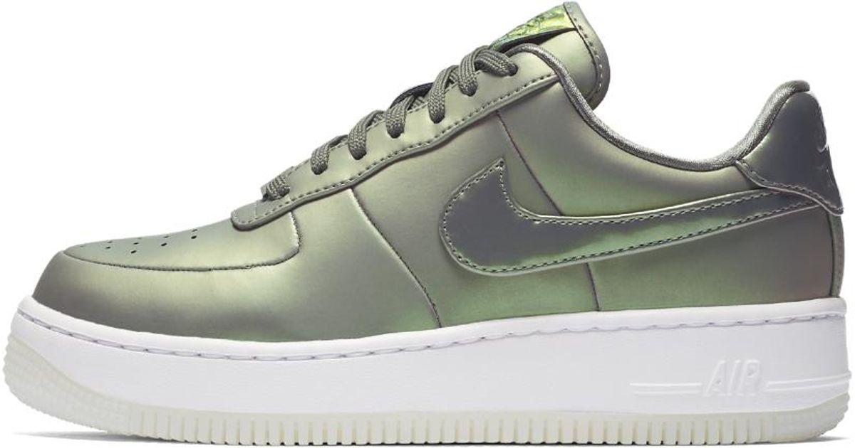 56cf7caa6afc2b Lyst - Nike Air Force 1 Upstep Premium Lx Women s Shoe in White
