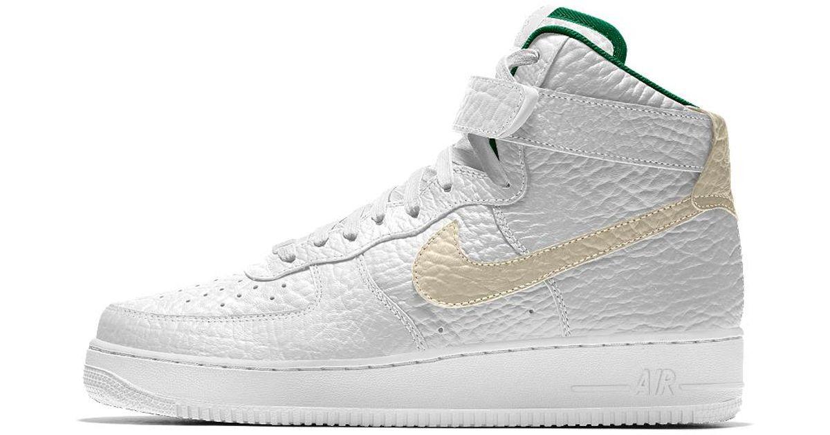 sale retailer 803e2 73d76 Lyst - Nike Air Force 1 High Premium Id (milwaukee Bucks) Men's Shoe in  White for Men