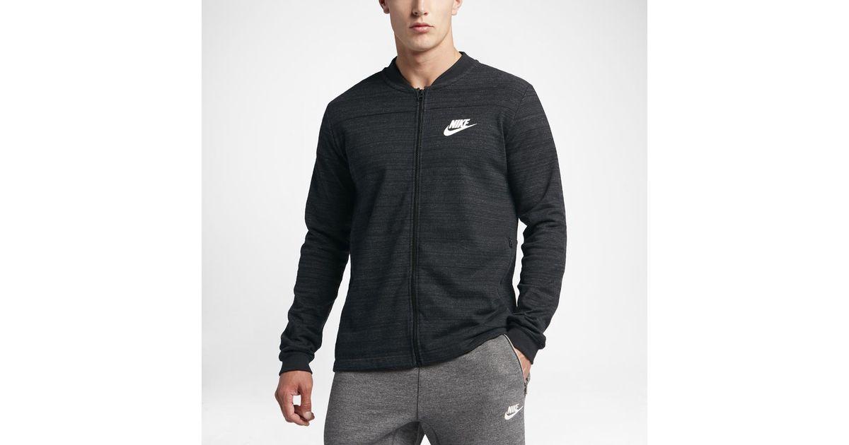 ad662591 Nike Sportswear Advance 15 Men's Knit Jacket in Black for Men - Lyst