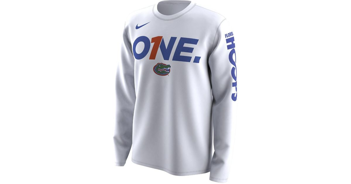 80352bc9 Nike College Bench Legend (florida) Men's Long Sleeve T-shirt in White for  Men - Lyst
