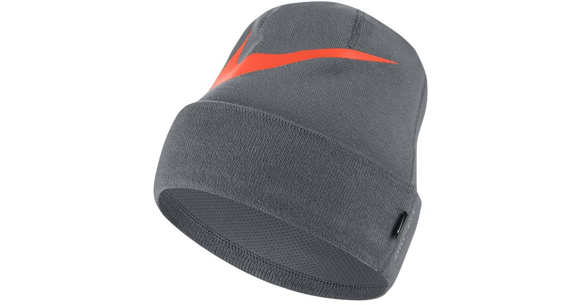 d5c29a39fd6 Lyst - Nike Swoosh Cuffed Training Knit Hat (grey) in Gray for Men
