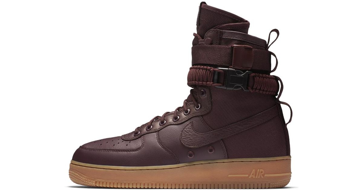 3afabe70114 Lyst - Nike Sf Air Force 1 Men s Boot in Brown for Men