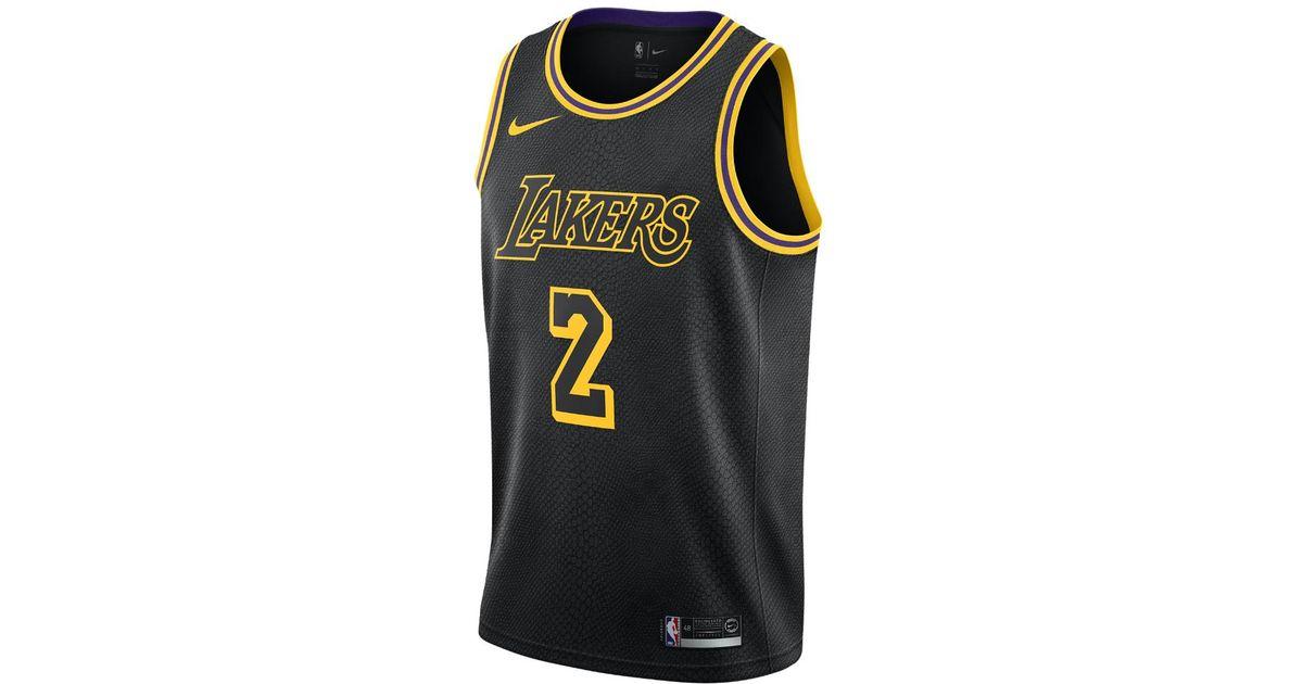 5f8629c460fe2 Nike Lonzo Ball City Edition Swingman Jersey (los Angeles Lakers) Men's Nba  Jersey in Black for Men - Lyst
