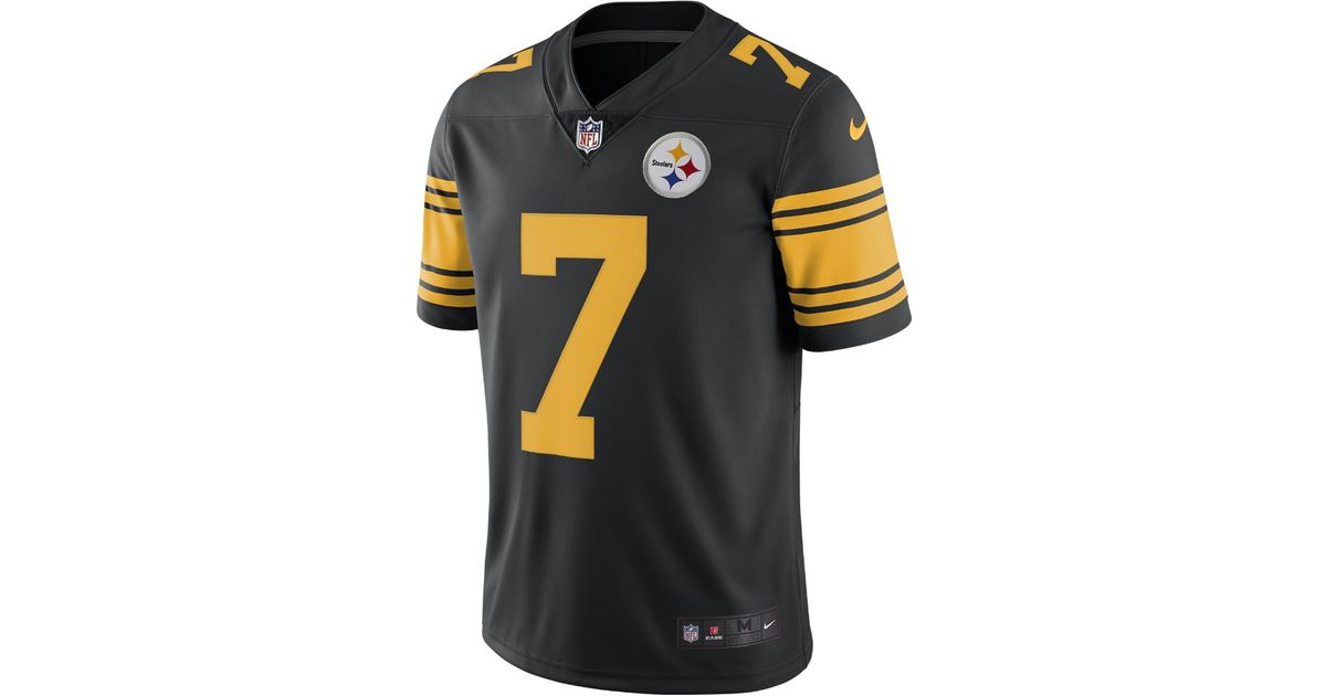 4c449474ba5 Lyst - Nike Nfl Pittsburgh Steelers Color Rush Limited (ben Roethlisberger)  Men s Football Jersey in Black for Men